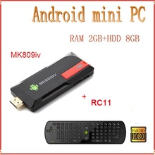 Quad Core RK3229 Android 2GB 8GB Bluetooth Wifi HD MK809IV Google TV Player Codi TV Box+R11 Remote Control Air Mouse Keyboard