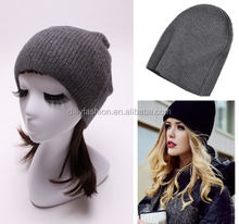 man and lady heavy knit bonnet hats beanie winter hat beanie cap