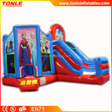 New for 2016 Elsa Inflatable bouncy castle combo, Frozen inflatable game for Kids birthday parties