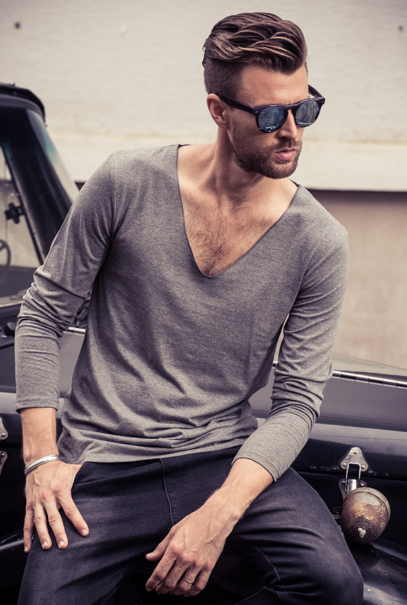 Men's casual long sleeve T-shirt OEM service