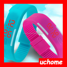 UCHOME Wholesale waterproof silicone wrist LED watch men sport watch