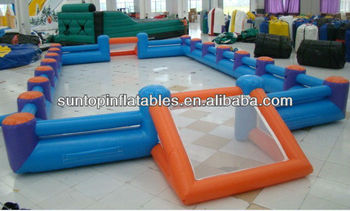 customized inflatable human foosball field with high quality
