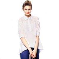 new fashion linen crochet blouse long blouses muslims for women alibaba wholesale