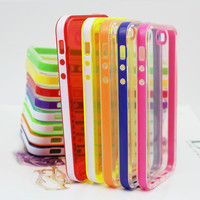 plastic pc tpu bumper case for iphone 5 5s