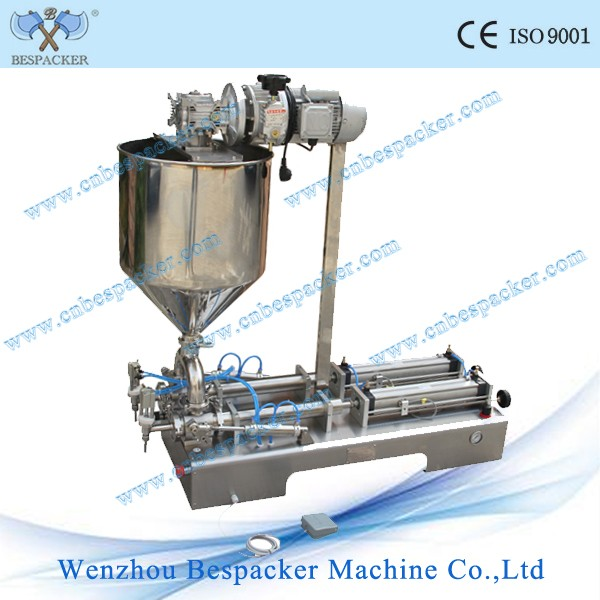 Double nozzles vegetable cooking oil filling machine for high viscosity product