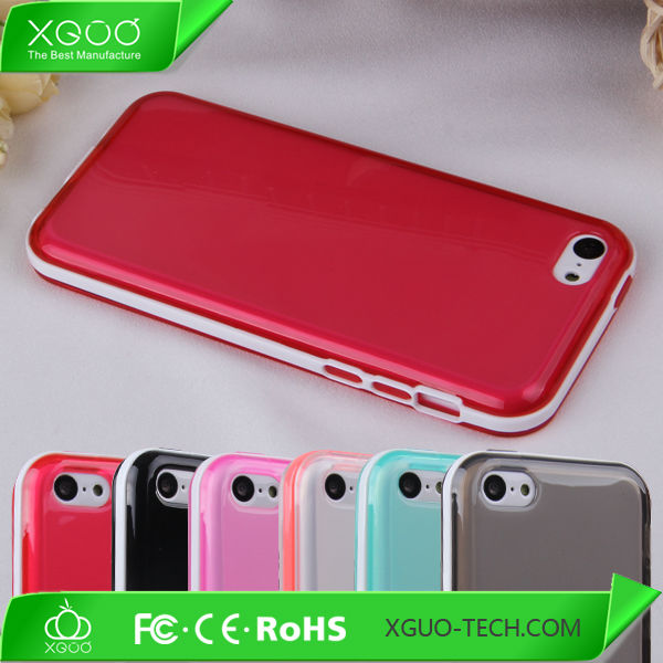 7colourful factory new arrival for apple iphone5c tpu case