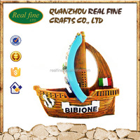 Resin Cheap Vessels, Bibione Ship Model for Tourist Souvenirs