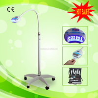 Profeesional Dental Use Blue Cooling LED Lights Zoom Teeth Whitening Machine with Aluminium Alloy Case