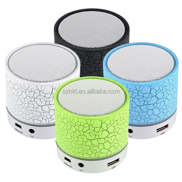 Fashion LED Mini Wireless Bluetooth Speaker A9 TF USB FM Mic Portable Music Sound Box PC Subwoofer