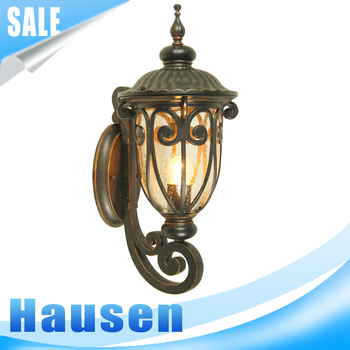 European style cheap outdoor hotel garden modern wall light lamp