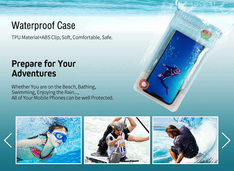 Waterproof bag, University Mobile Accessory New Arrival Mobile Phone IPX8 PVC Waterproof Bag for cell phone