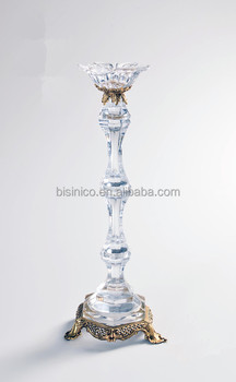 Home Decor Item Classical Brass with Crystal Candlestick/Candleholder (BF01-0243)