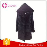 Wholesale Price Ladies Genuine Mink Fur Women Winter Coat L156