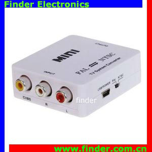 Cheaper PAL/NTSC/SECAM to PAL/NTSC Video MINI Bi-directional TV Format System Converter