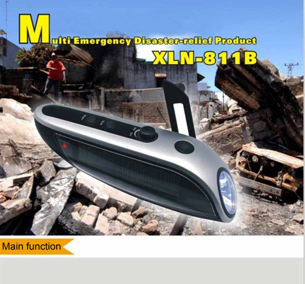led rechargeable portable emergency light with radio