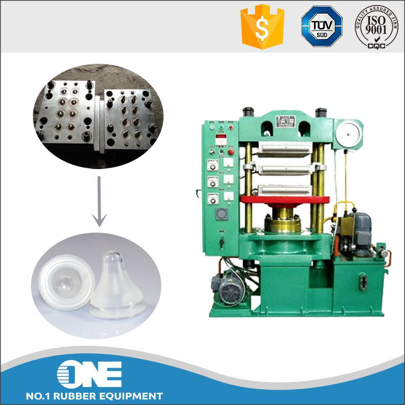 exquisite technical silica gel teat compression press / rubber moulding hydraulic press vulcanzation