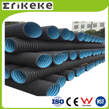 Full size HDPE corrugated plastic pipe price
