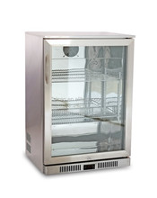 Under Counter Type Bar Fridge Stainless Stain Glass Door Beer Fridge for beer