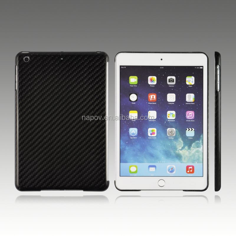 Trending hot products slim real carbon fiber for ipad mini 3 tablet cover