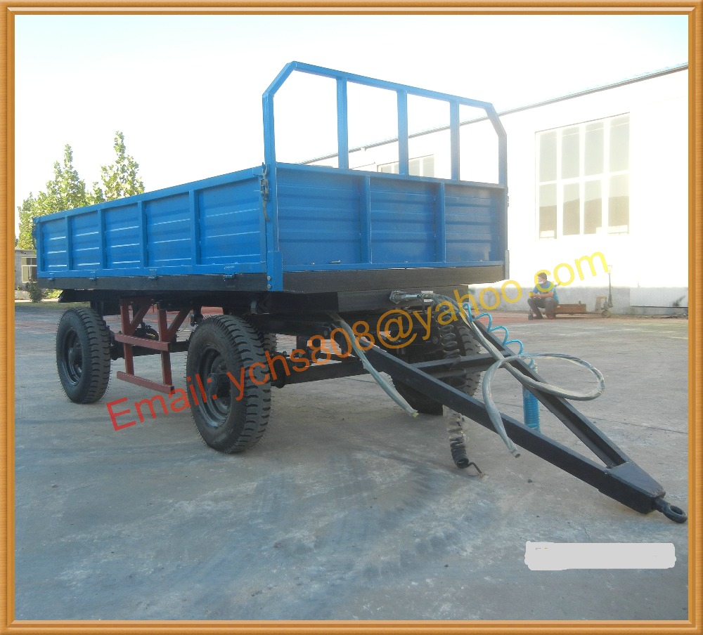 Types Of Tractor Trailers : Tons farm tractor trailer dumping type made in china