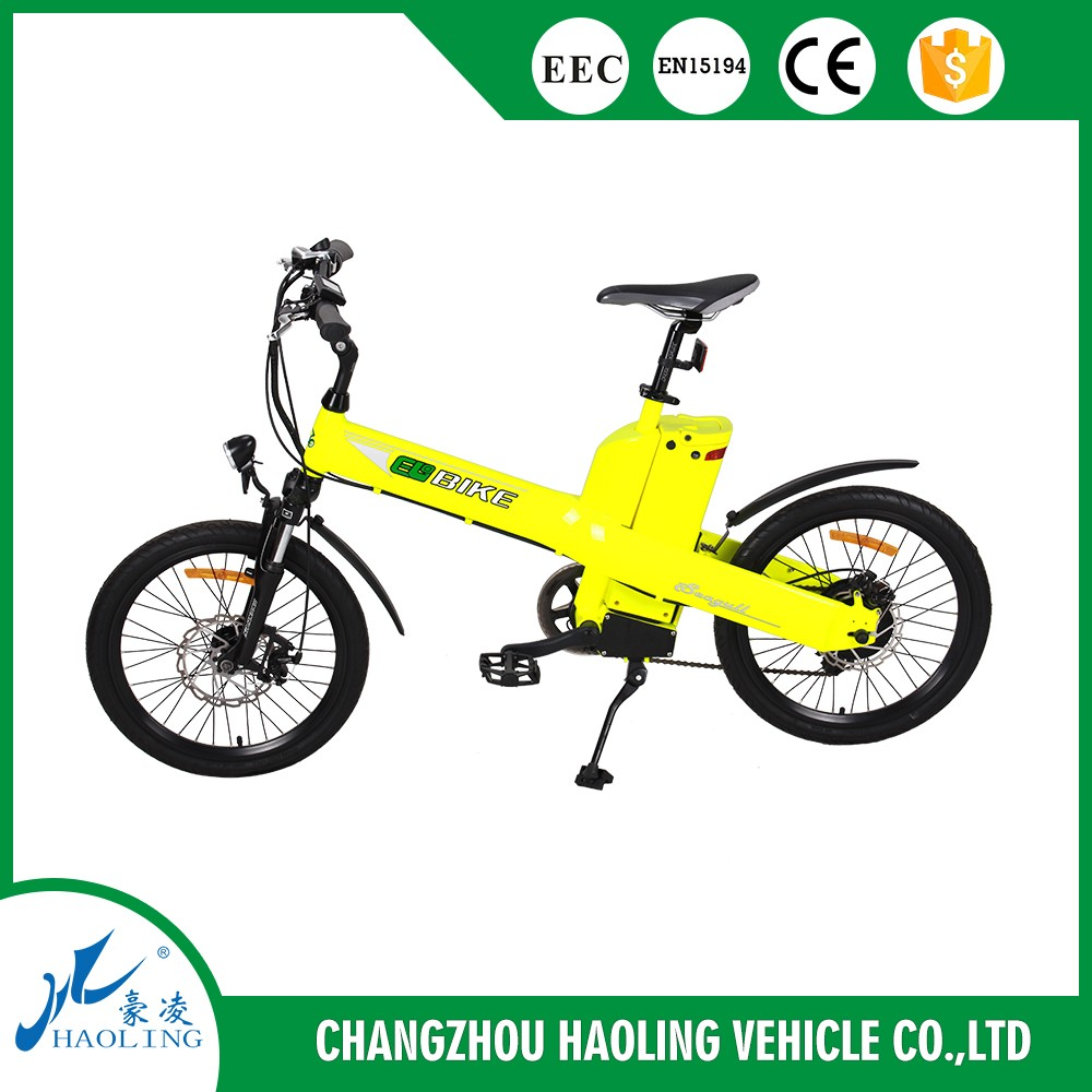 Seagull, 20'' pedal assist electric bike with hub motor