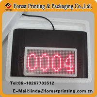 double sets series tickets LED display clinic counter queue system with blank ticket