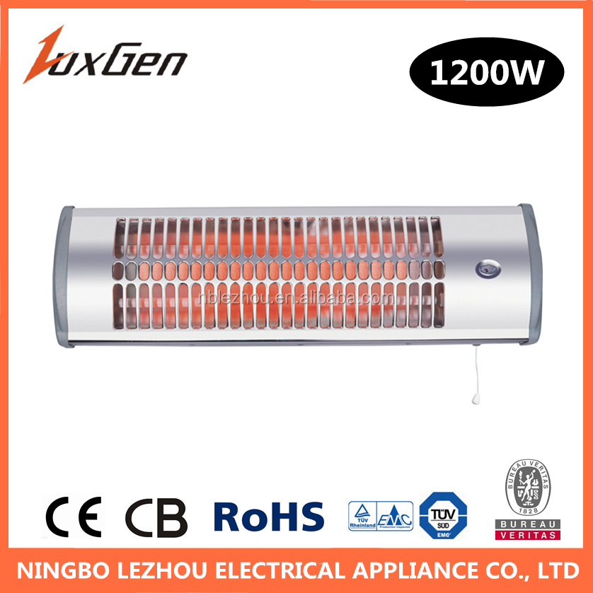 1200W electric wall mounted quartz room heaters