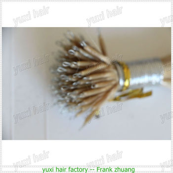Best quality Nano Ring Tip Human Hair Extensions