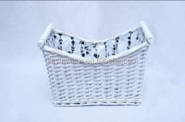 Wholesale White color square wicker basket set
