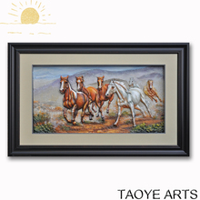 3D PVC chinese running horse paintings for wall decor cheap horse paintings