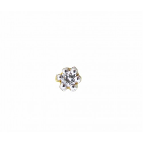 Diamond and Gold Nose Pin N-D4765