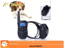 blue screen 330Y waterproof dog training collar,no bark dog collar,dog electronic shock training collar