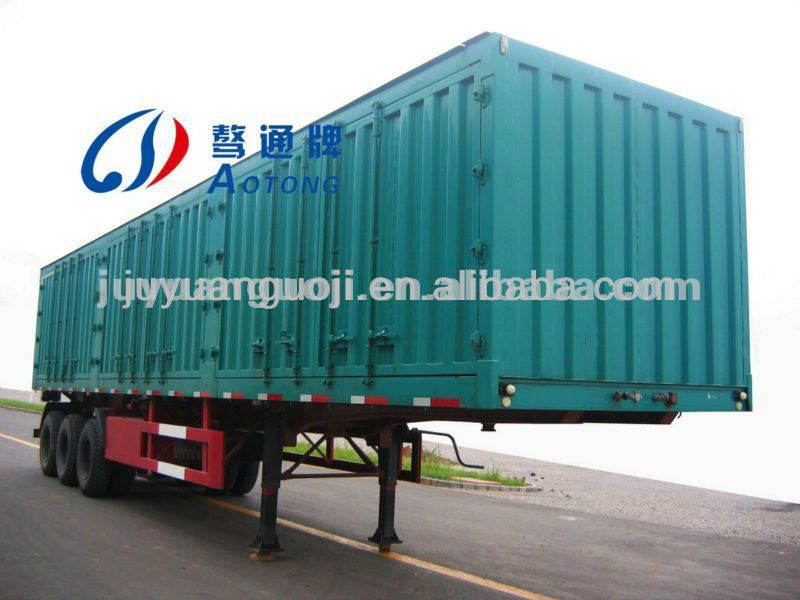 best selling cargo semi trailer house,3 axles truck cargo box,side open box utility trailer