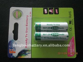 AA 1.2V 2300mAh rechargeable battery