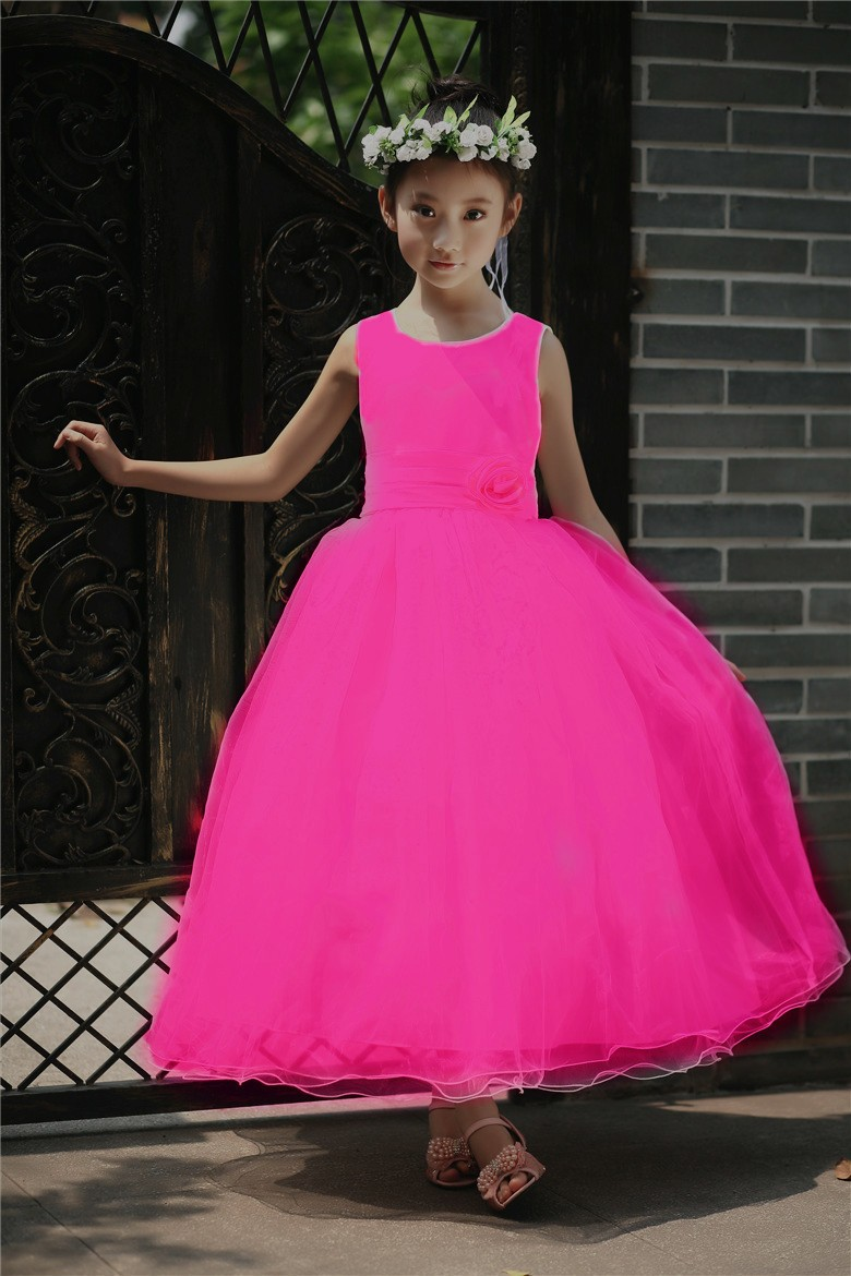 2017 New Girl's Weeding Dress Lace Girl Dress Children Frock Designs Party Wear Dress