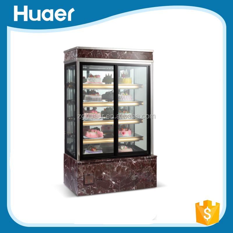 Supermarket Upright Refrigerated Pastry Showcase/Commercial Cake Display Chillers
