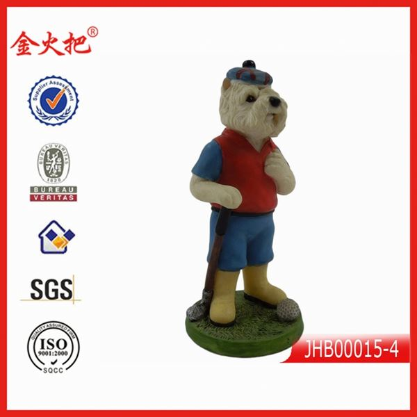 hot funny decoration small plastic dog figurines