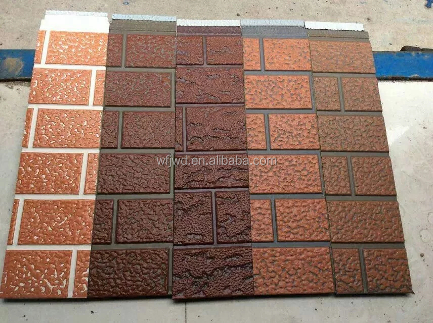decorative insulated exterior facade siding embossed wall panel