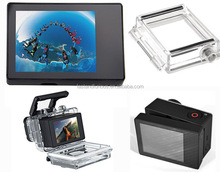 LCD Display External Screen + Waterproof Protective Housing Case Backdoor Cover For Gopros Hero3 3+ 4