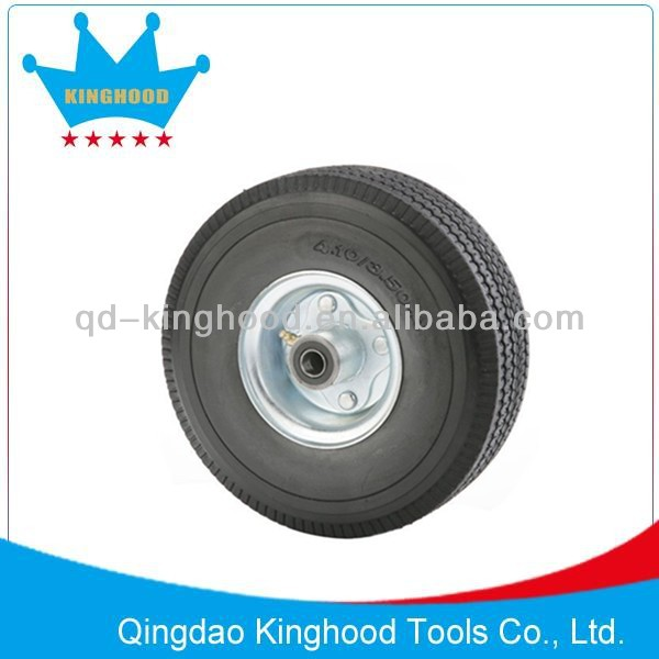 10in Solid Pu Foam Wheel 4.10/3.50-4 sawtooth Tread 3pcs hub