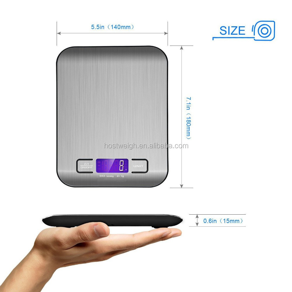 Slim Accuracy Food Scale Multifunction Kitchen Scale