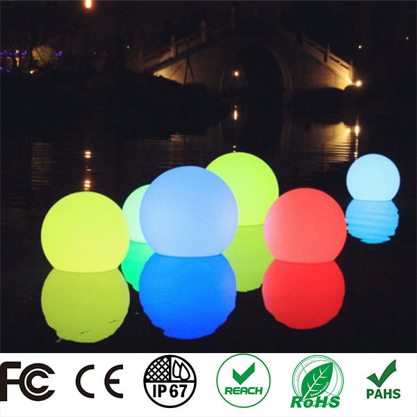 colorful decoration flashing floating solar glowing large led ball
