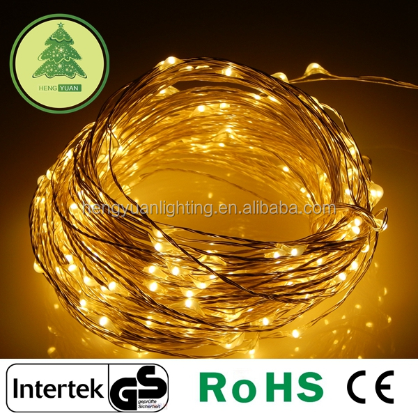Christmas decoration Led Starry String Light Waterproof 100LEDs Warm White Color on Copper Wire