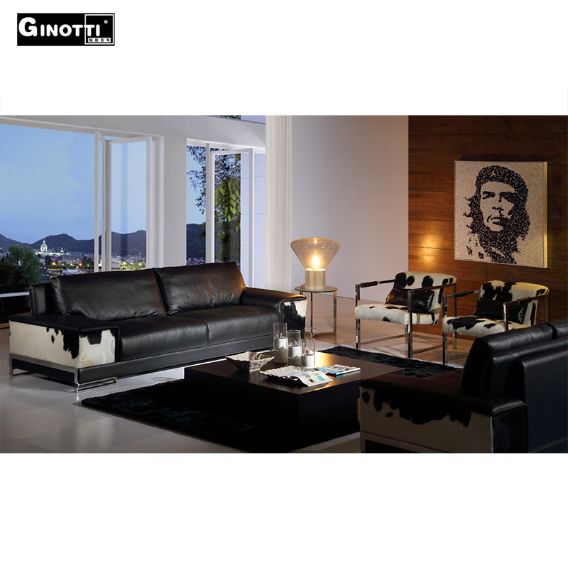 Ginotti living room leather sofa set