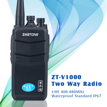 8 watt walkie talkie with IP67 WATER-PROOF handheld VHF136-174MHz two way radio ZASTONE V1000