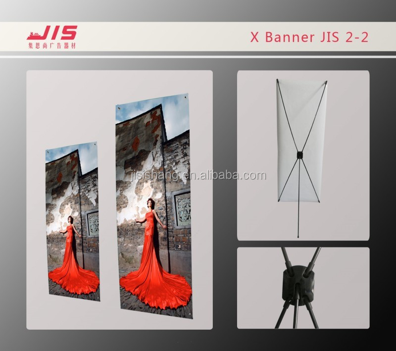 JIS2-2 economic exhibition trade show display usage 60*160cm customised size fiberglass X stand