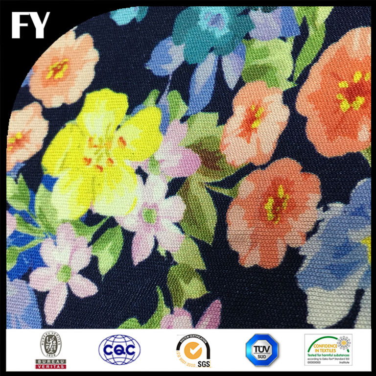 Custom Digital Print 100% Polyester Knitted cotton Fabrics