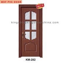 China modern cheap wood pvc door interior