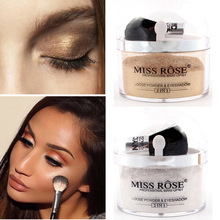 Miss Rose Contour Shimmer Glow Highlighter Makeup Kit 2 in 1 highlighter Glittle Gold Eyeshadow Powder