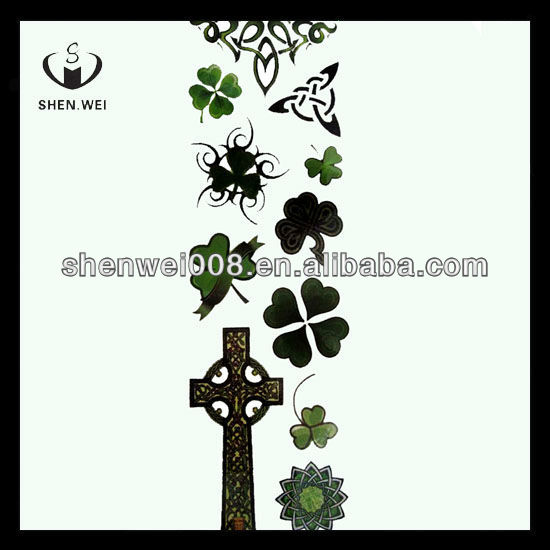 cross crystal nipple cartoon tattoo sticker